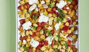 Crispy Gnocchi with Roasted Peppers, Chilli, Rosemary and Ricotta Recipe