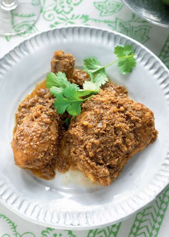 Goan-style Chicken with Roasted Coconut