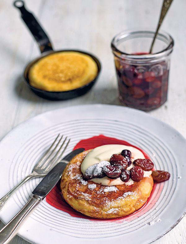 best pomegranate recipes goats curd pancakes pomegranate roast grapes the modern pantry anna hansen