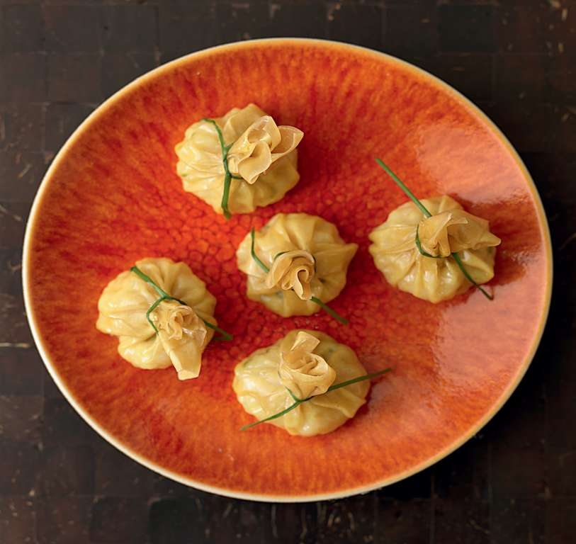 Prawn and Scallop Moneybag Dumplings