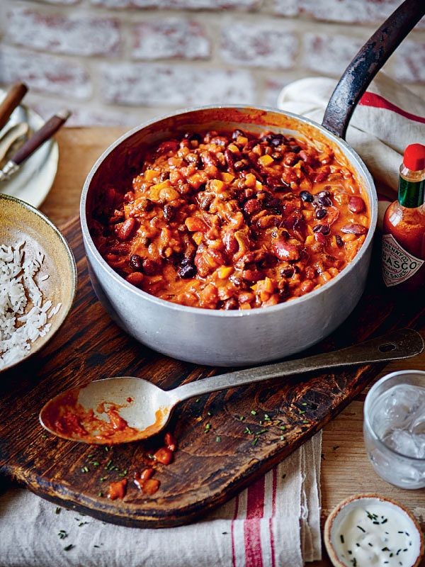 slow cooker veggie chilli