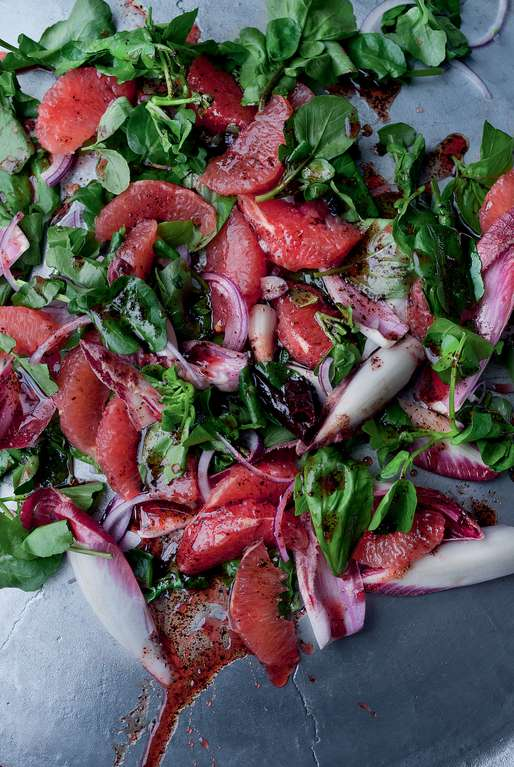 Yotam Ottolenghi's Pink Grapefruit and Sumac Salad