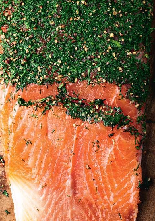 Gravlax (Dill-cured Salmon)