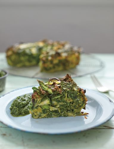 Green Egg Frittata from The Good Life Eatery Cookbook