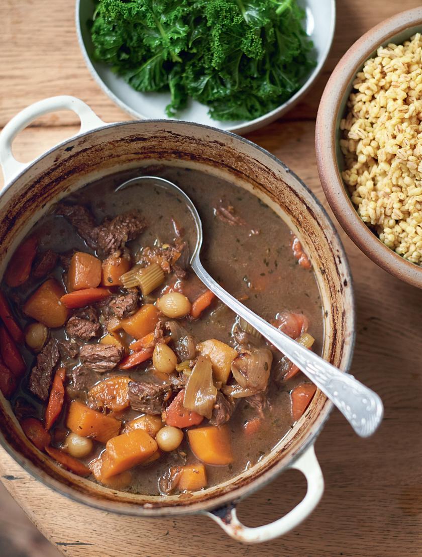 Easy Grain Store Cupboard Recipes | Jamie Oliver Beef & Barley Stew