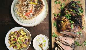 Jamie Oliver's Spiced Roasted Lamb | Friday Night Feast