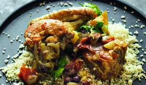 Chicken Braised with Preserved Lemons and Cinnamon
