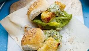 Hake Burgers with Roast Garlic Mayo Recipe | Abel and Cole