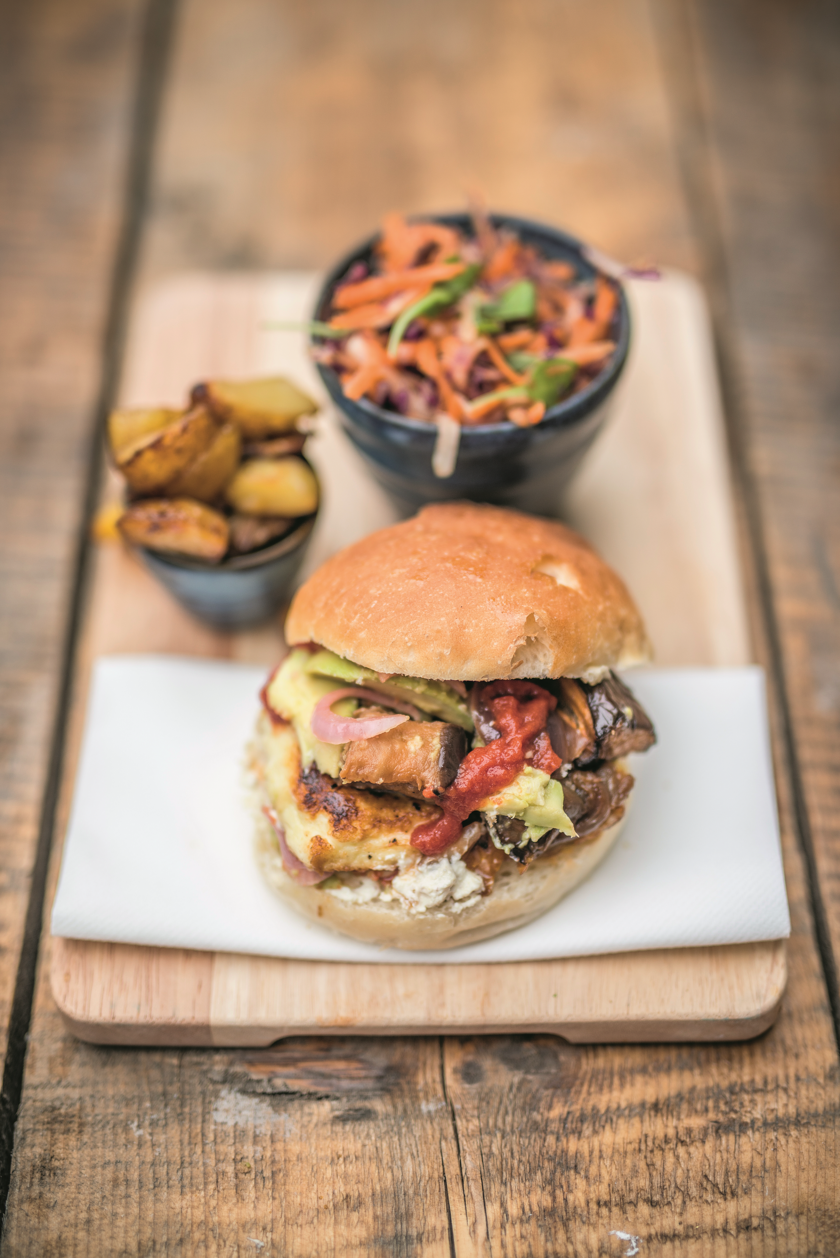 Vegetarian Halloumi Burger| The Happy Pear