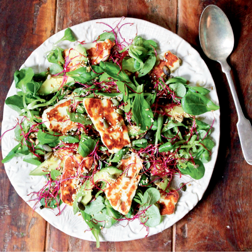 Halloumi, Avocado and Lime Salad from The Little Green Spoon