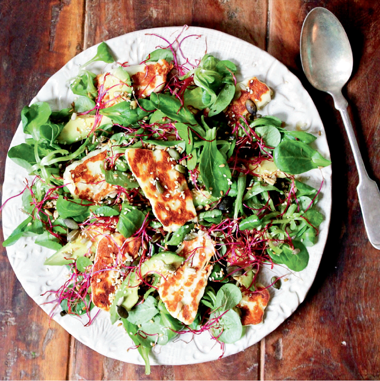 Halloumi, Avocado and Lime Salad