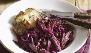 Ham Hock with Red Cabbage