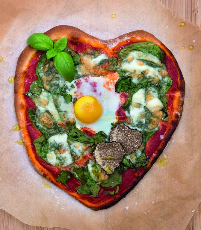 Big Heart Pizza with Truffle