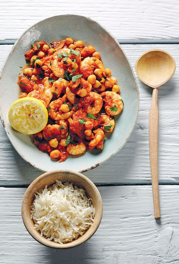 prawn chickpea curry recipe from the chickpea cookbook