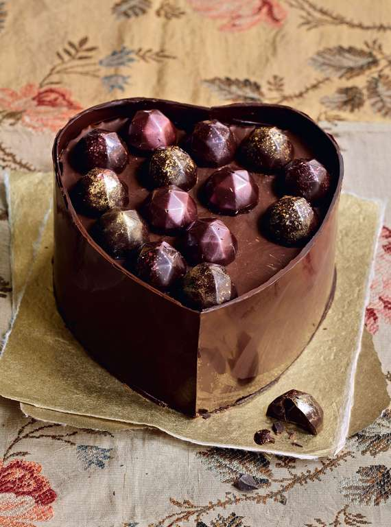 Heart-shaped Chocolate Box Cake