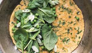 Herby Green Omelette Recipe