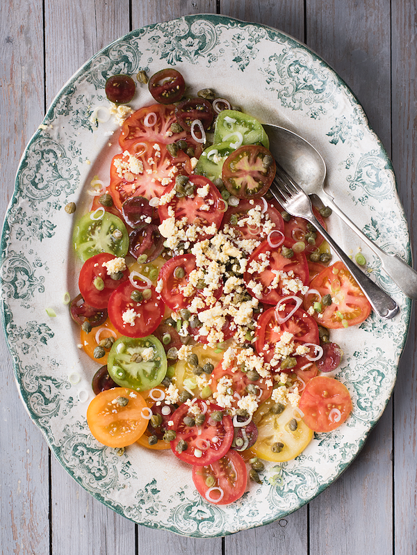 tomato recipes heritage tomato salad cook nourish glow cookbook