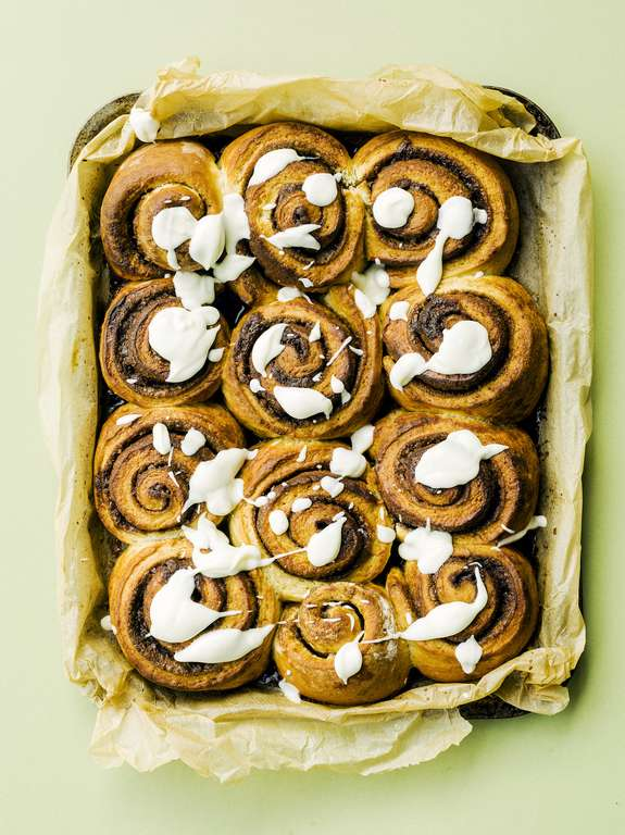 Cinnamon Buns with Cream Cheese Icing