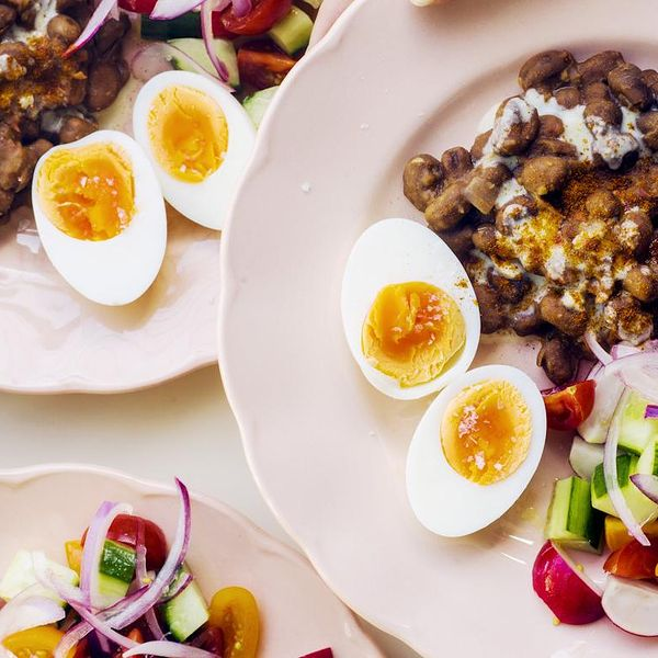 The ful egyptian the happy foodie enjoy a taste of egypt with this colourful brunch recipe from the little book of brunch spiced fava beans are served alongside chopped salad flatbread and forumfinder Gallery