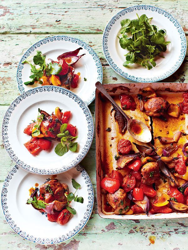 Quick & Healthy One-Tray Oven Chicken Recipes - jamie oliver traybake chicken recipe