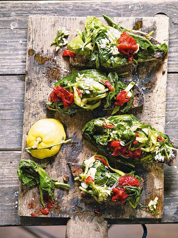 spring recipes Horta on ToastfromThe New Vegetarian by Alice Hart