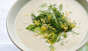 Hot Yoghurt and Broad Bean Soup