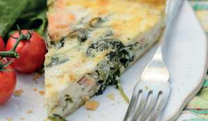Smoked Trout, Watercress and Horseradish Quiche