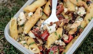 Feta and Pepper Pasta Salad