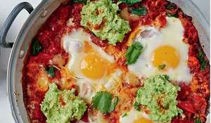 Huevos Rancheros with Guacamole from Jasmine and Melissa Hemsley
