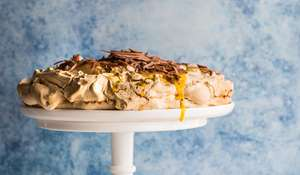 Passionfruit and Milk Chocolate Pavlova