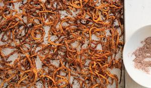 Spicy Sweet Potato Strings