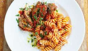 Involtini of Beef in Tomato Ragù with Fusilli