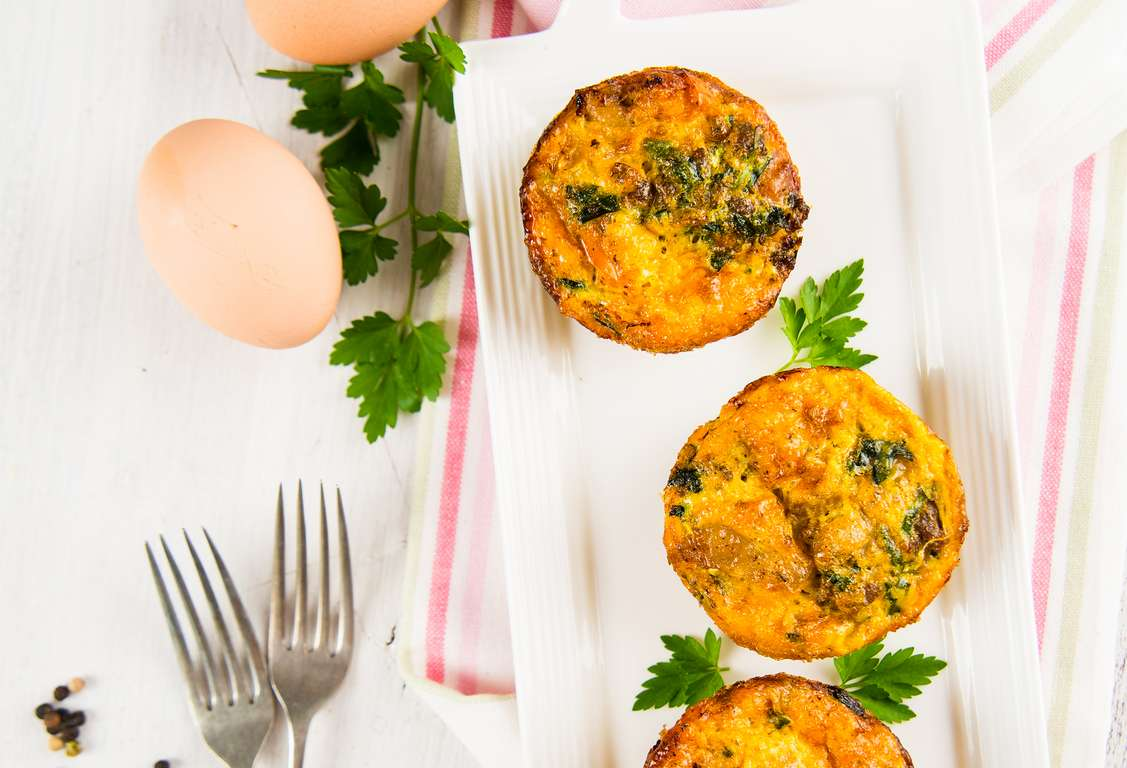 Spinach-Egg Muffins
