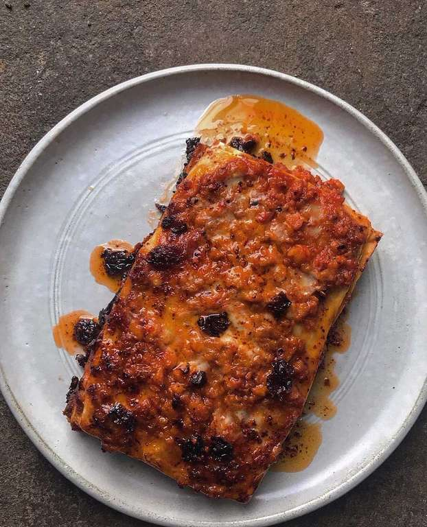 Ixta Belfrage's Prawn and Requeijão Lasagne with Dende Chilli Oil