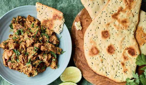 Nadiya Hussains Jackfruit Curry With No Yeast Naan
