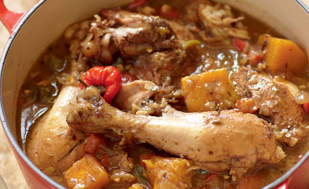 Jamaican Brown Chicken Stew