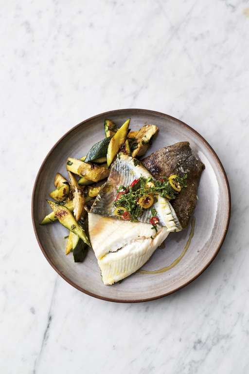 Jamie Oliver's 5-Ingredient Crispy Skin Lemon Sole
