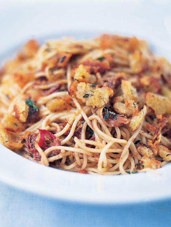 How to make your own pasta | jamie oliver spaghetti chilli pangritata
