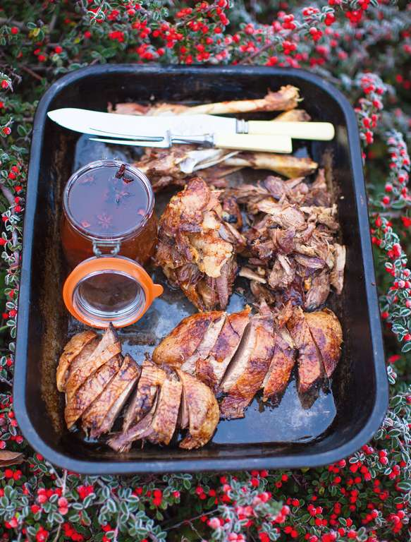 Jamie Oliver's Roast Goose Slow-Cooked with Christmas Spices