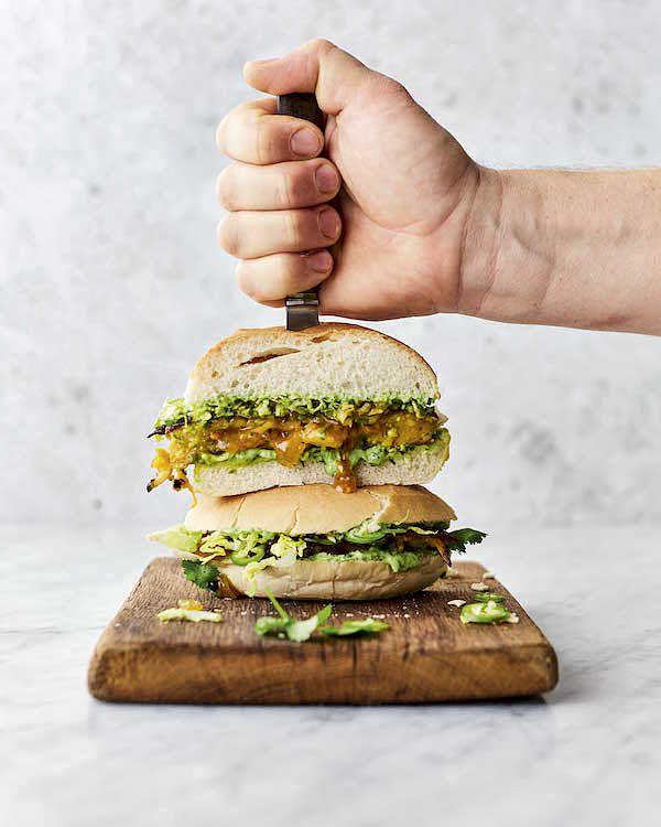 brilliant bhaji burger jamie oliver veg