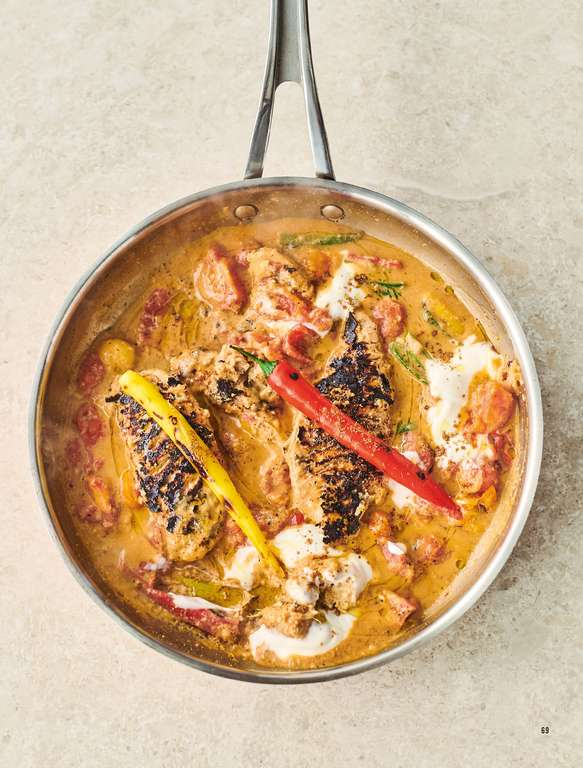 Jamie Oliver's My Kinda Butter Chicken with Fragrant Spices, Tomatoes, Cashew Butter and Yoghurt
