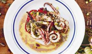 Jamie Oliver's Grilled Squid Salad Recipe | Jamie Cooks Italy C4