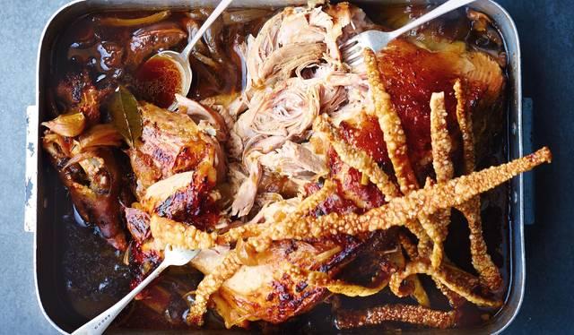 crock pot pork shoulder roast cook time