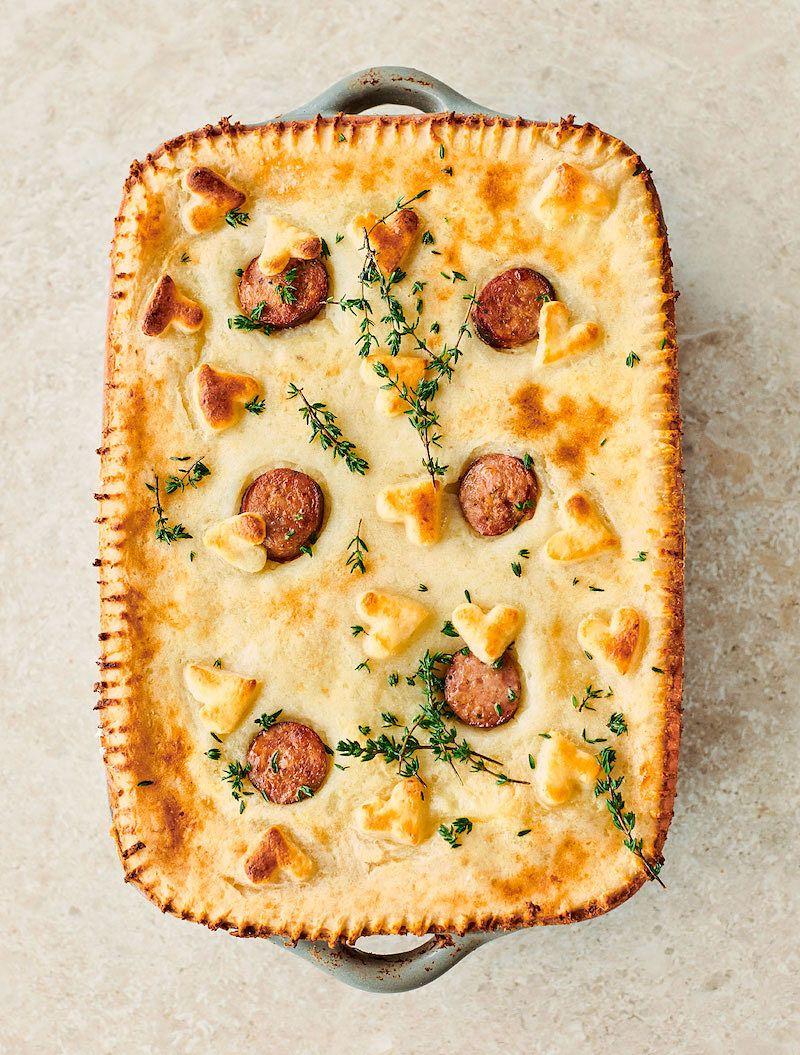 hearty british recipes jamie oliver 7 ways sausage and mash pie