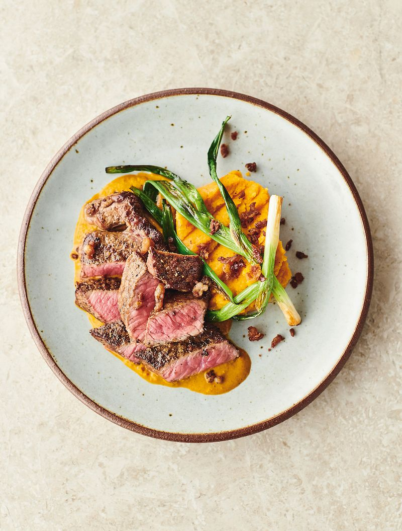 7 dinners from jamie oliver 7 ways seared steak and red chimichurri