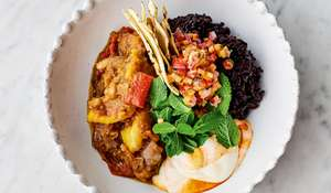 Jamie Oliver's Veggie Chilli with Black Rice, Salsa and Chilli Yoghurt Recipe