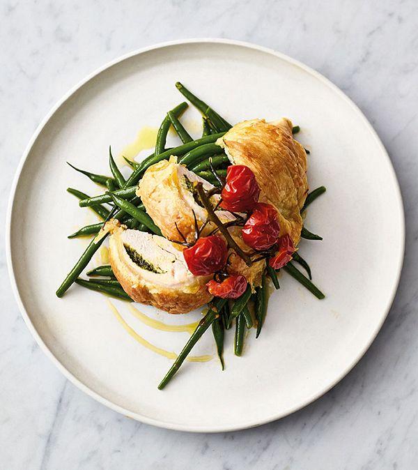 Jamie Oliver pastry pesto chicken