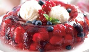 Cranberry jelly with summer berries rom Annabel Karmel 100 Family Meals