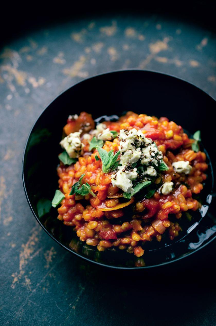 Easy Grain Store Cupboard Recipes | Ottolenghi Barley Risotto