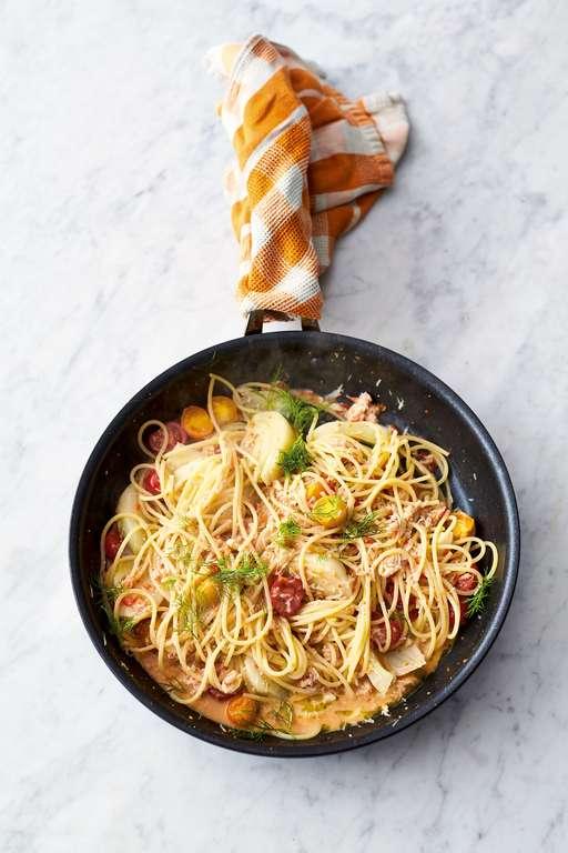 Crab and Fennel Spaghetti